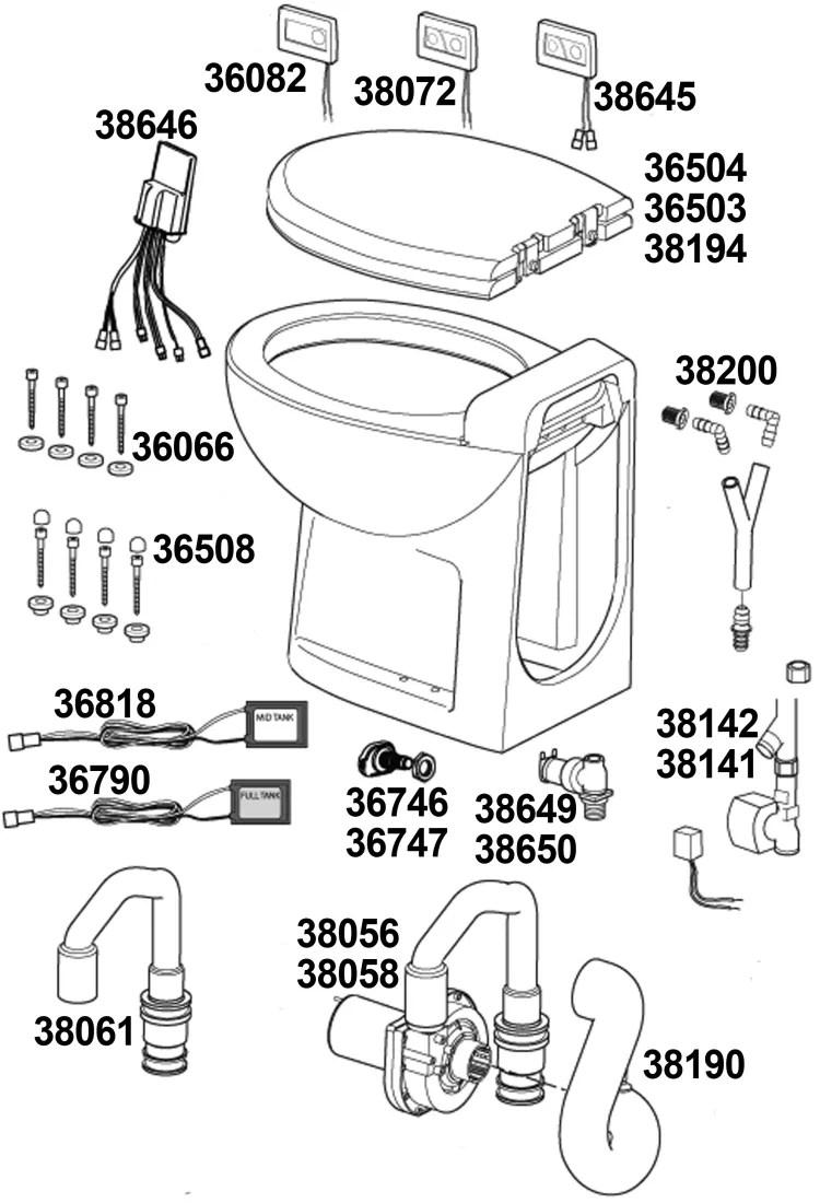 hight resolution of tecma silence plus toilet parts