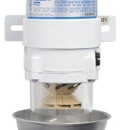 500 ma series marine turbine diesel fuel filter with heat shield [ 750 x 1353 Pixel ]