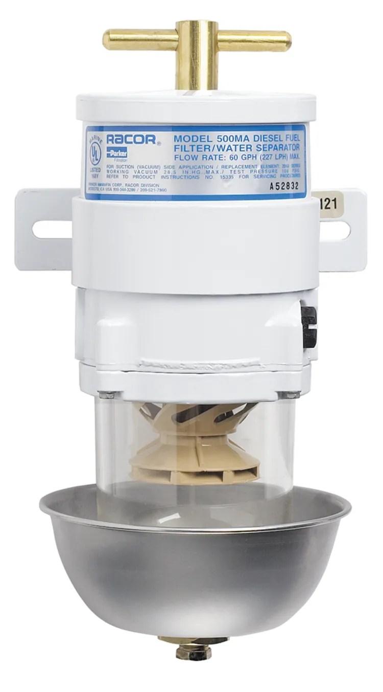 medium resolution of 500 ma series marine turbine diesel fuel filter with heat shield
