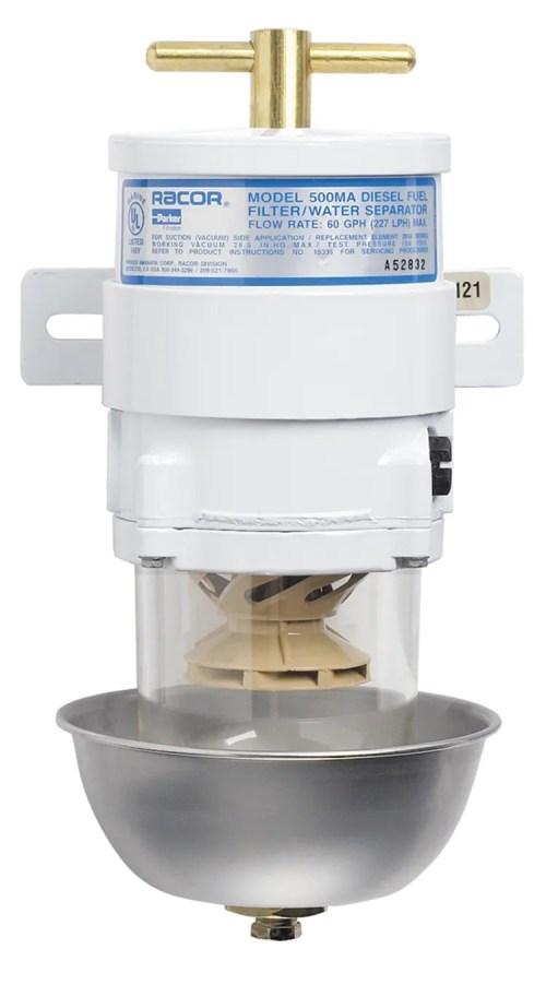 small resolution of 500 ma series marine turbine diesel fuel filter with heat shield