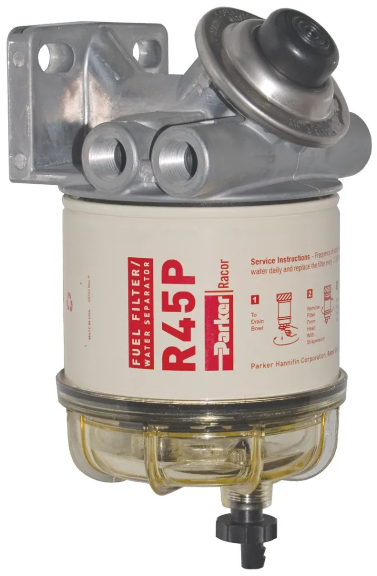 medium resolution of main view of racor 445r diesel spin on series fuel filter