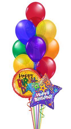 Happy Birthday Colorful Balloons