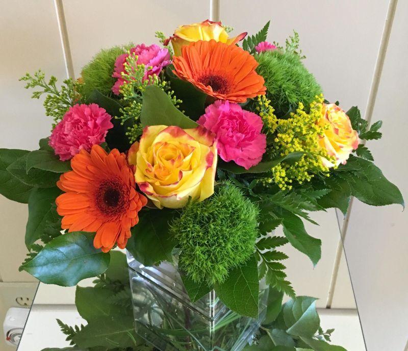 Sunset Bouquet Elegant Flowers Fresno Florists