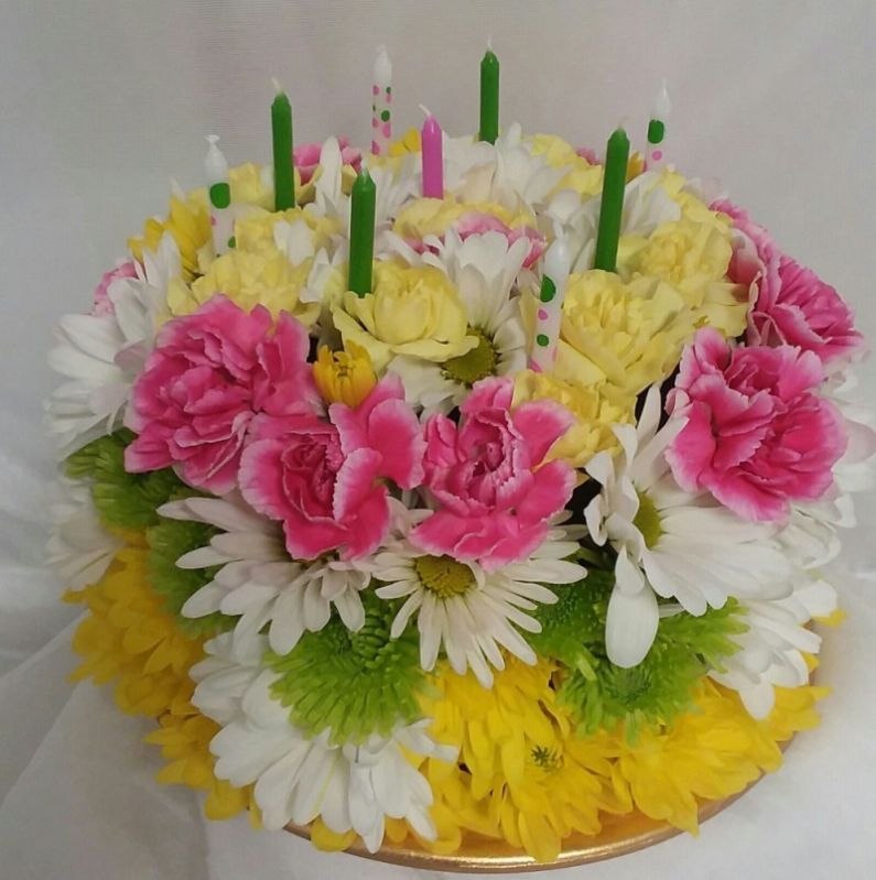 Floral Birthday Cake Naturally Yours Designs Fairview Pa Florist