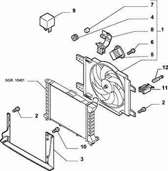 Ventola radiatore alfa 156