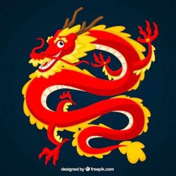 Tradycyjny chiński smok Darmowych Wektorów