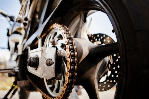 Cerrar detalles de rueda de moto Foto gratis