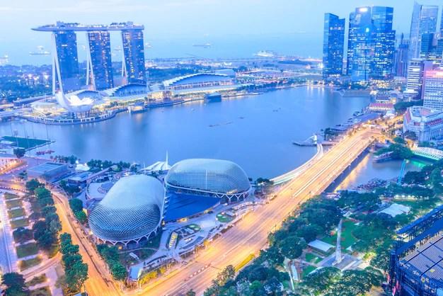 Ciudad de singapur horizonte Foto gratis