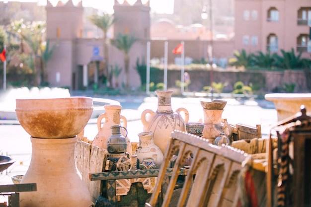 Escena de calle en marrakesh Foto gratis