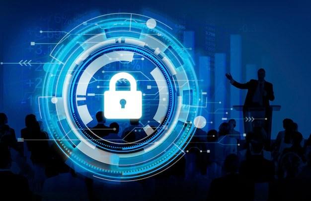 Conceito de segurança de segurança corporativa de proteção de negócios Foto gratuita