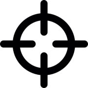 crosshair circle with four lines