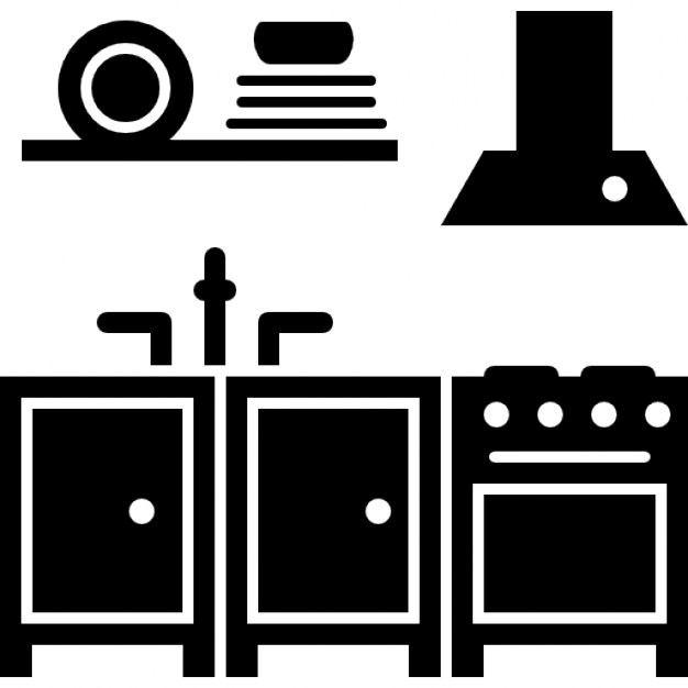 Kitchen Furniture Icons Free Download