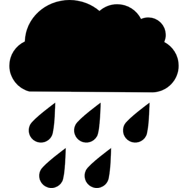 Rain Cloud Realistic Drawing