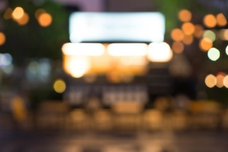Abstract blur food truck Free Photo