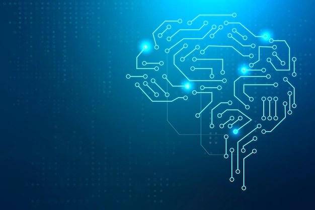 Ai technology brain background digital transformation concept Free Photo