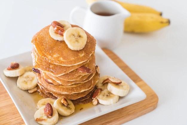 almond banana pancake Free Photo