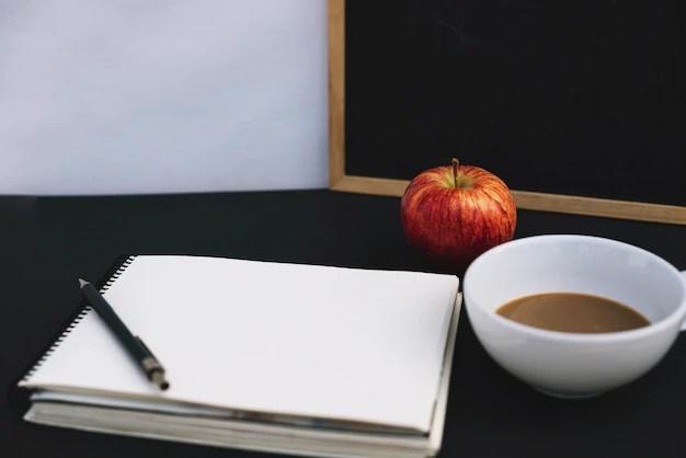 apple and coffee near