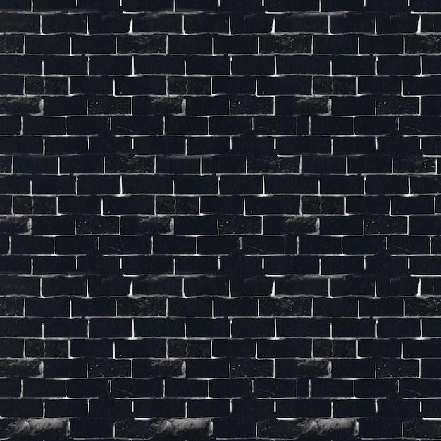 Black and white brick wall Photo