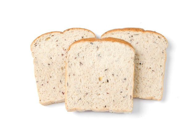 Bread slice isolated on white Premium Photo