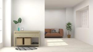 background living empty wall interior cabinet sofa premium