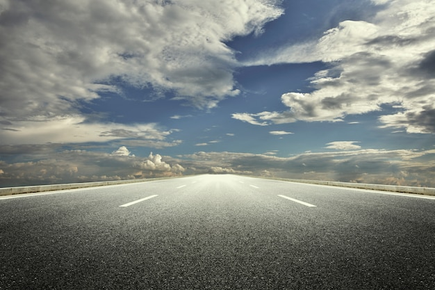 Cloudy Road Photo Free Download