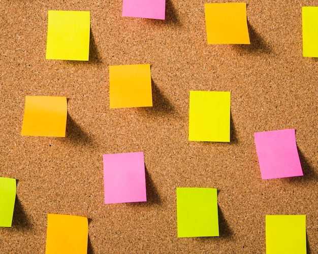 colorful blank sticky notes