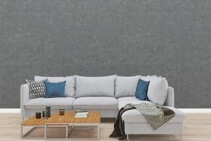 wall living background concrete gray sofa floor wood template premium