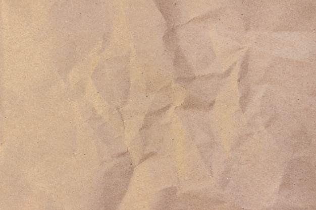 Craft Paper Beige Crumpled Craft Paper Texture Background Premium Photo