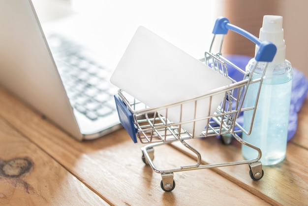 Credit card and using. online shopping concept Premium Photo