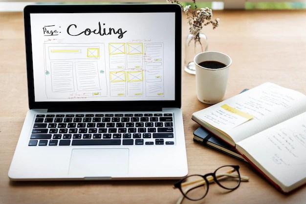 Develop coding web design coding web template Free Photo