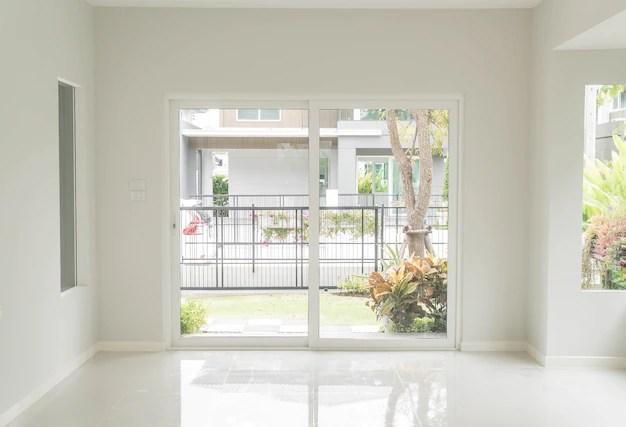 Empty door in living room interior background Photo  Free