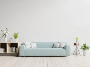 empty living wall background sofa plants table premium