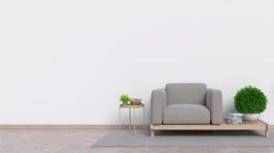 sofa empty living wall background premium