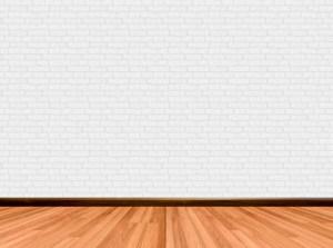 empty background brick wall wooden floor premium beige