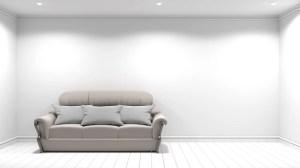 empty background interior 3d wall sofa premium rendering freepik