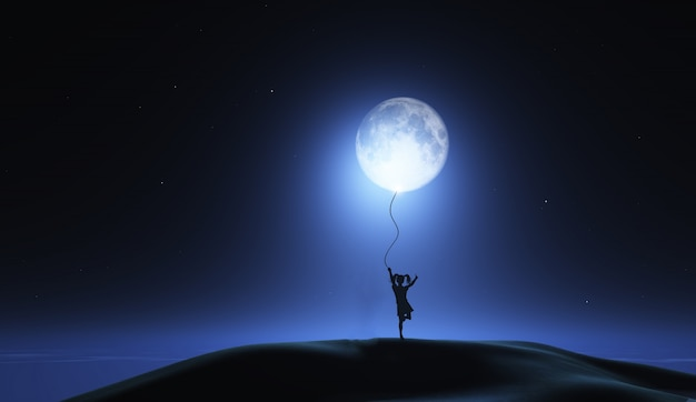 girl with the moon