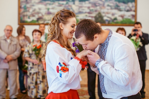 groom kisses the hand