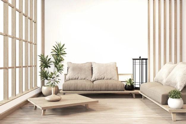 Premium Photo Interior Zen Modern Living Room Japanese Style