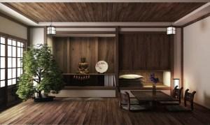 japanese wooden rendering background display interior 3d flooring premium traditional kyoto zen illustrations dreamstime vectors