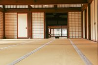 Japanese room with tatami floor Photo