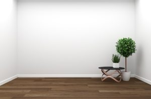 background wall living interior 3d rendering plants wooden premium