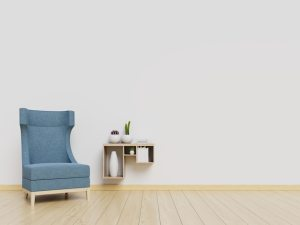 background living wall interior mockup armchair premium