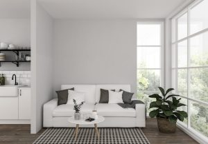blank living premium mockup artwork interior