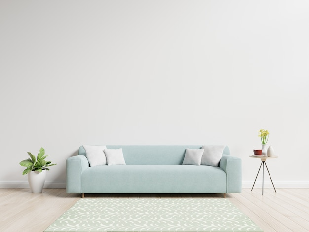 living room flowers blue and brown curtains with sofa have pillows plant vase on demo 24