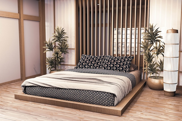 Premium Photo Luxury Modern Japanese Style Bedroom Mock Up Designing The Most Beautiful 3d Rendering
