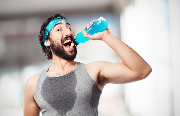 Man Drinking An Energy Drink Photo  Free Download