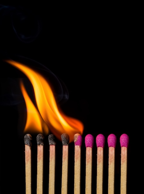 matches burning photo free