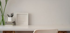 office background minimal table space copy frame premium supplies