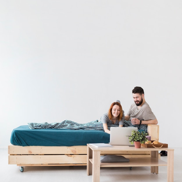 Free Photo Minimalist Bedroom Design And Couple Long View