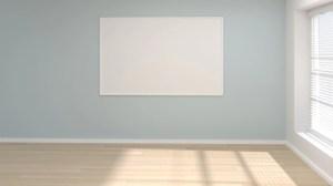 empty interior living modern frame mock 3d premium background minimal concept poster illustration rendering open door